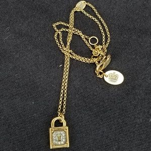 Juicy Couture Padlock Necklace Goldtone with stone